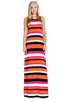 Karen Kane Coral Reef Stripe Maxi Dress