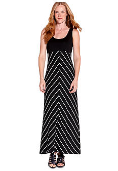 Karen Kane Electric Tide Stripe Maxi Tank Dress