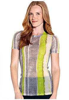 Karen Kane Electric Tide Short Sleeve Crew Neck Tee