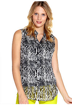 Karen Kane Electric Tide Split Placket Blouse