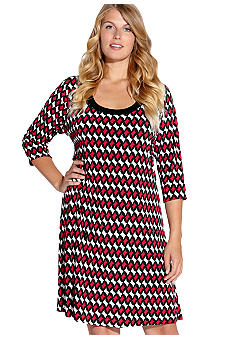 Karen Kane Plus Size Three-Quarter Sleeve Dress