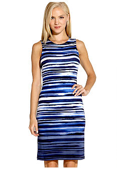 Karen Kane Electric Tide Sleeveless Dip Dye Shift Dress