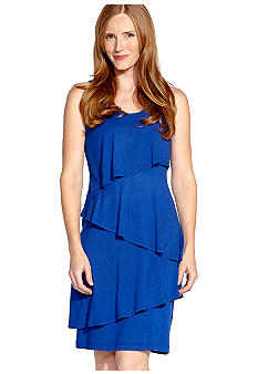 Karen Kane Electric Tide Asymmetrical Tier Dress