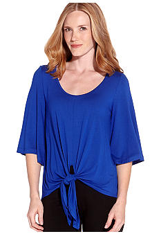 Karen Kane Electric Tide Flare Sleeve Knot Top