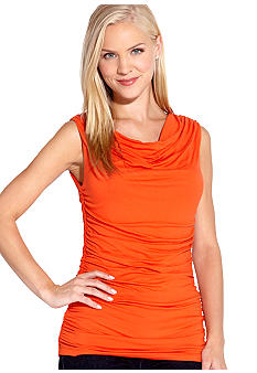 Karen Kane Coral Reef Sleeveless Shirred Top