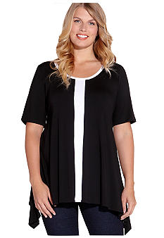 Karen Kane Plus Size Handkerchief Top