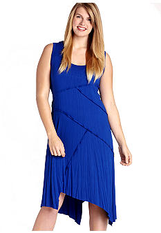 Karen Kane Plus Size Uneven Hem Dress