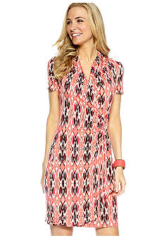 Karen Kane Printed Cascade Wrap Dress