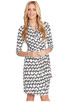Karen Kane Indigo Bay Cascade Wrap Dress