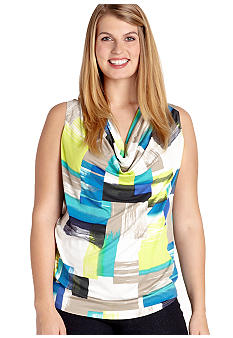 Karen Kane Plus Size Cowl Neck Top