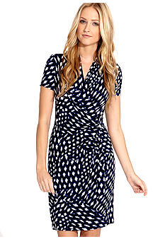 Karen Kane Electric Tide Printed Cascade Dress