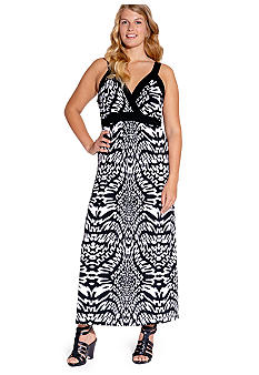 Karen Kane Plus Size Banded Maxi Dress