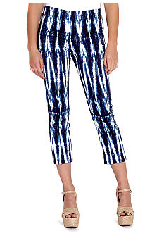 Karen Kane Electric Tide Printed Capri Pant