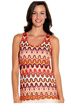 Karen Kane Coral Reef Sleeveless Crochet Tank Top