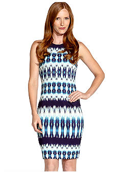 Karen Kane Electric Tide Printed Sleeveless Shift Dress