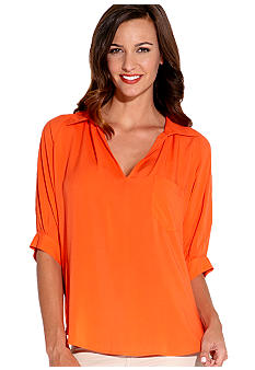 Karen Kane Coral Reef Split Neck Top