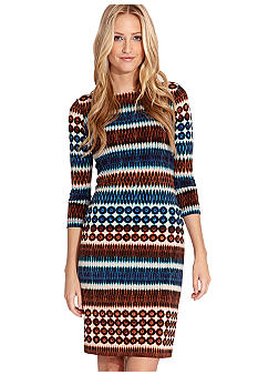Karen Kane Indigo Bay Three Quarter Sleeve Dress
