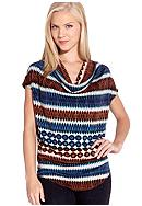 Karen Kane Indigo Bay Drape Neck Top