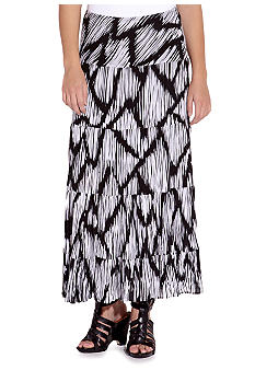 Karen Kane Electric Tide Tiered Maxi Skirt