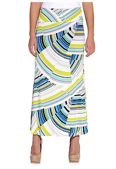 Karen Kane Electric Tide Folded Waist Skirt