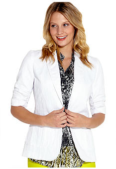 Karen Kane Electric Tide Shirred Sleeve Blazer