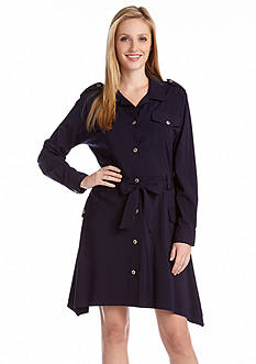Karen Kane Americana Handkerchief Hem Shirt Dress