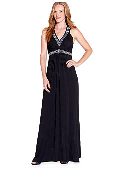 Karen Kane Electric Tide Embroidered Maxi Dress