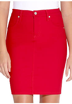 Karen Kane Coral Reef Colored Stretch Twill Skirt