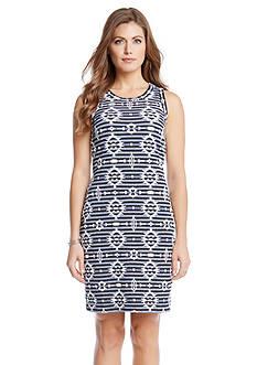 Karen Kane Knit Print Jacquard Dress