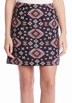 Karen Kane Jacquard A-Line Skirt