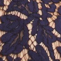 Karen Kane Clothing: Navy Karen Kane Lace Trim Top