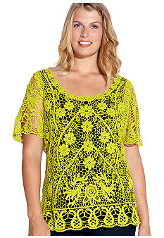 Karen Kane Plus Size Crochet Sweater