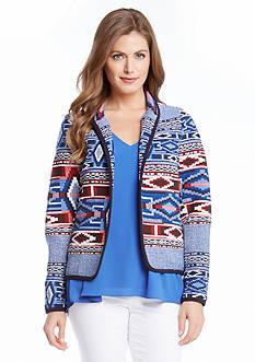 Karen Kane Printed Jacquard Jacket