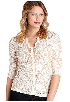 Karen Kane Electric Tide Kate Lace Top