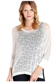 Karen Kane Cross Creek Crochet Lace Top
