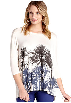 Karen Kane Melrose Palmetto Tree Tunic Top