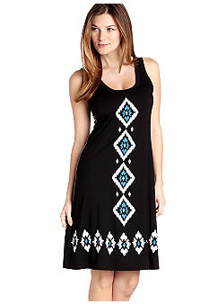 Karen Kane Cross Creek Diamond Print Dress