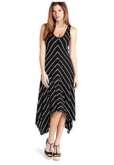 Karen Kane Melrose Asymmetrical V-Neck Stripe Dress