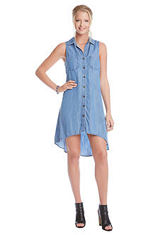 Karen Kane Chambray Trapeze Shirtdress