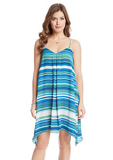 Karen Kane Striped Trapeze Dress