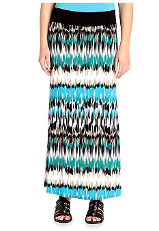 Karen Kane Cross Creek Printed Maxi Skirt