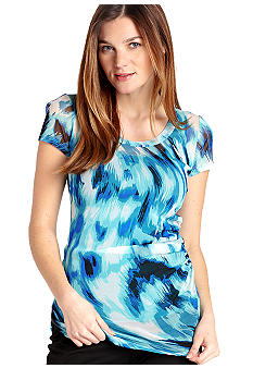 Karen Kane Cross Creek Side Shirred Top