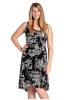Karen Kane Plus Size Extended Hem Maxi Dress