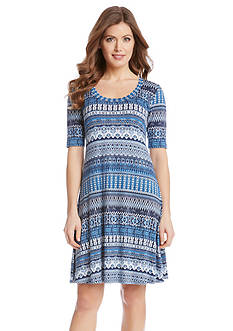 Karen Kane Mosaic Stripe T-Shirt Dress