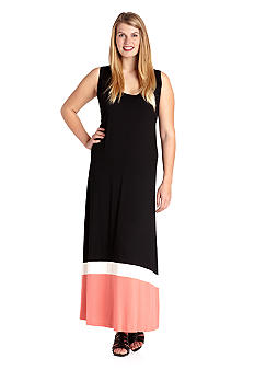 Karen Kane Plus Size Colorblock Maxi Dress
