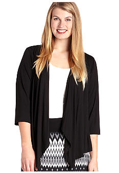 Karen Kane Plus Size Draped Knit Jacket