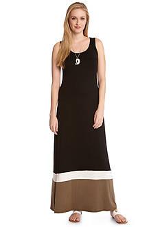 Karen Kane Marrakech Contrast Maxi Tank Dress