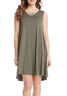 Karen Kane Olive Green Maggie Trapeze Dress