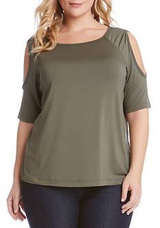 Karen Kane Plus Size Cold Shoulder Top