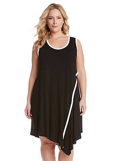 Karen Kane Plus Size Angled Drape Dress